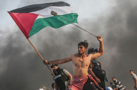 Mustafa Hassona - »Palestinian rights of return protests«